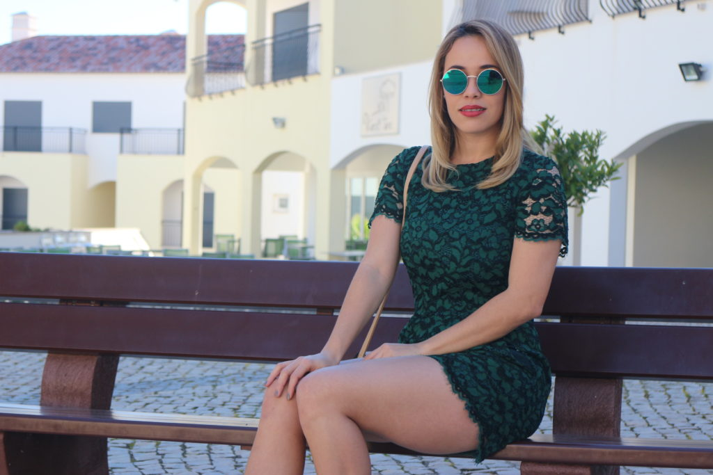 Look Verde Macacao com Renda 3 Emilly Evelyn