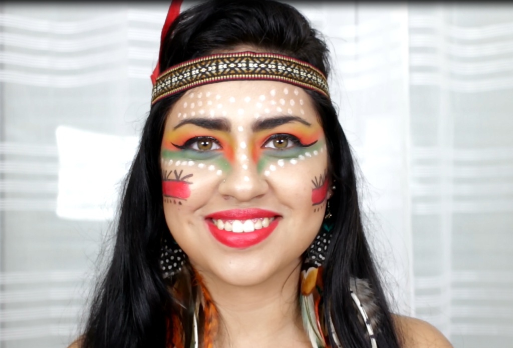MAKE DE CARNAVAL ÍNDIA POR Emilly Evelyn