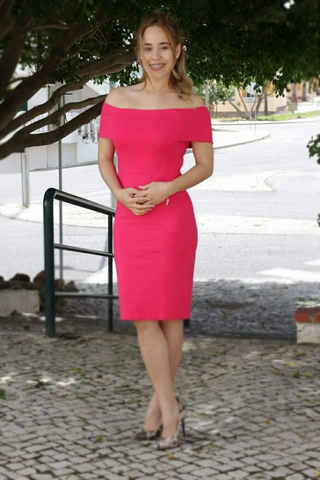 Look Pink Vestido Rosa Emilly Evelyn 1