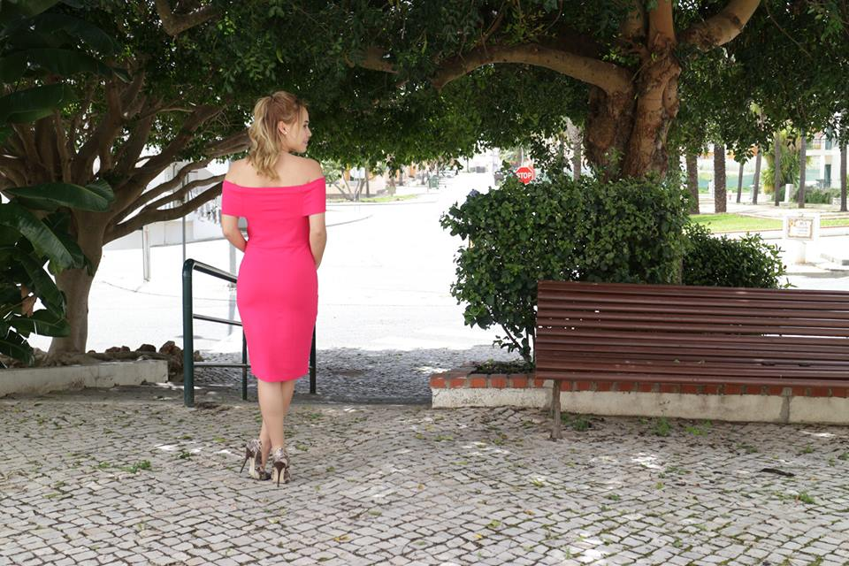 Look Pink Vestido Rosa Emilly Evelyn