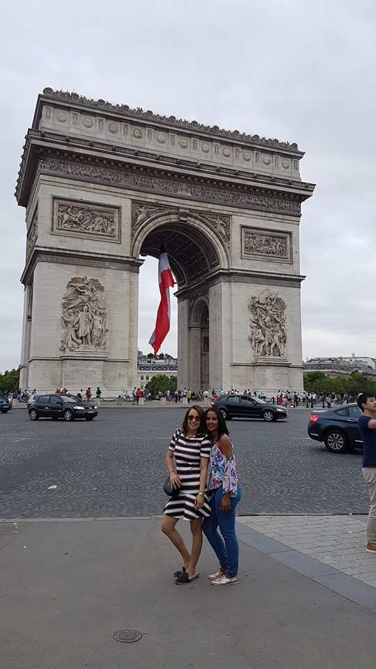 Viajem de Férias - Paris - Arco do Triunfo - Emilly Evelyn