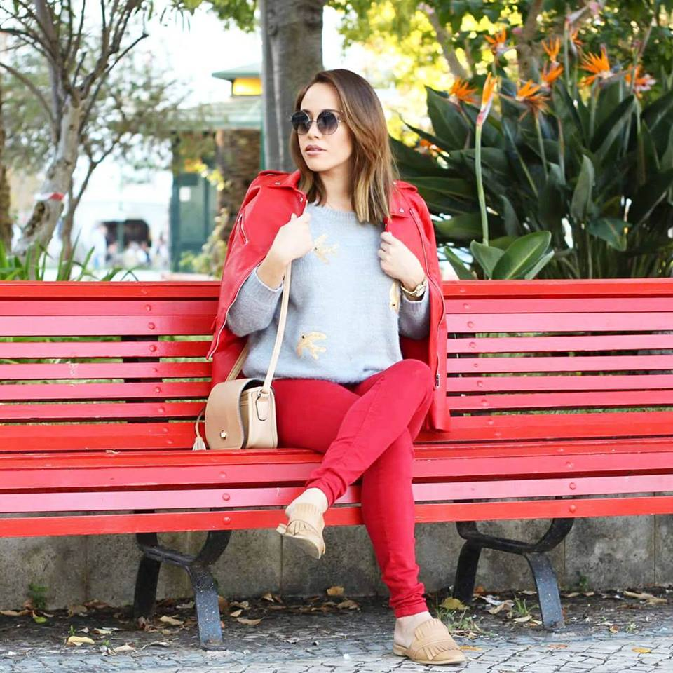 Look Vermelho Outono - Emilly Evelyn